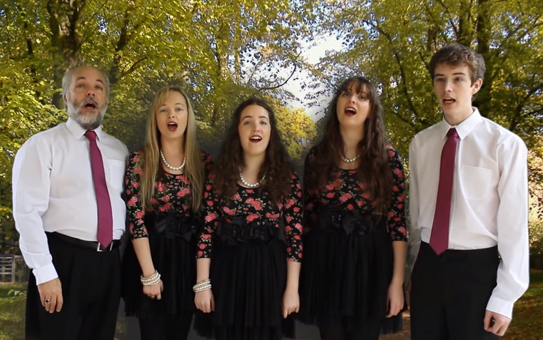 Classic Harmony, formerly known as The Kelly Family Vocal Ensemble, John, Emily, Orlaith, Rebecca, and Frank
