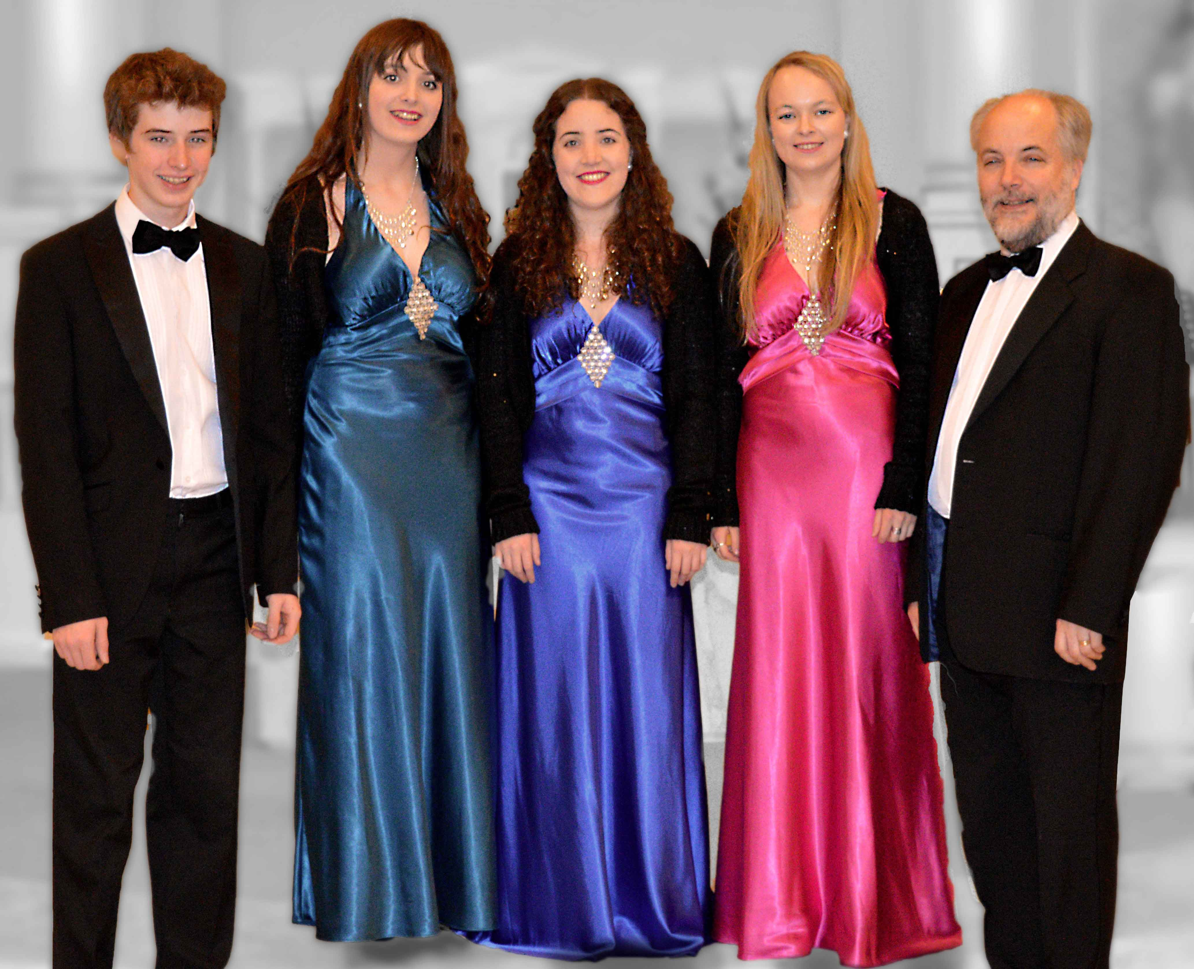 Classic Harmony: John, Emily, Orlaith, Rebecca, and Frank